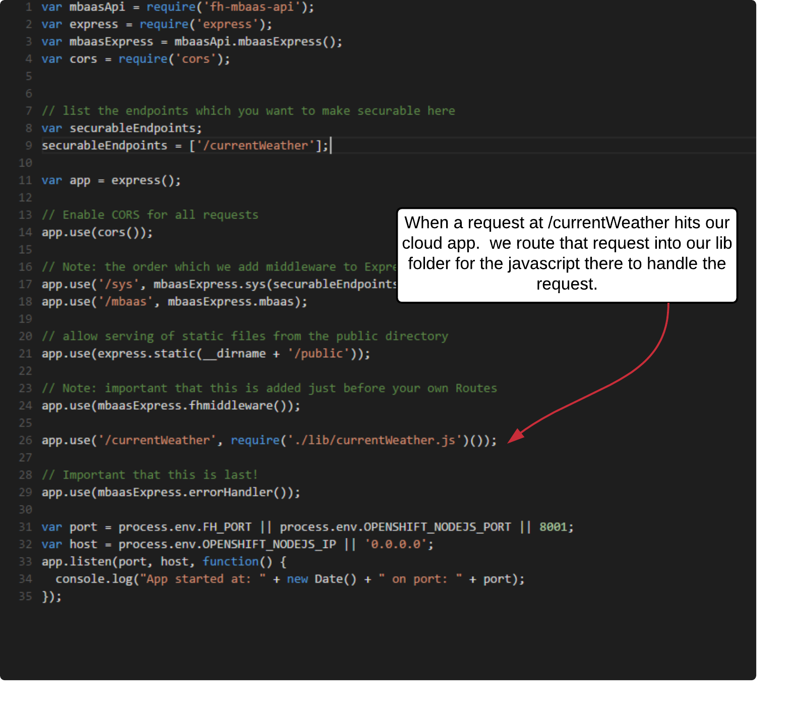 Modifying a Cloud App & Node JS